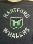 Hartford Whalers NHL Hockey Shirt and logo.